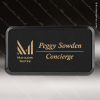 Click this Image to visit the  Black Leather Name Badges category.