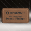 Click this Image to visit the  Dark Brown Leather Name Badges category.