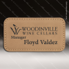 Click this Image to visit the  Light Brown Leather Name Badges category.